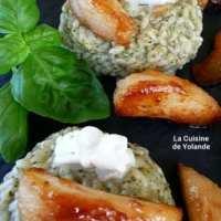 risotto au gorgonzola aux poires et au caramel salé.
