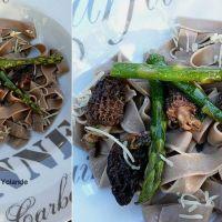 Pâtes à l'ancienne aux morilles et asperges.