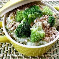 Purée de brocolis, romanesco et choux fleur au noix de cajou grillées