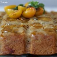 Gâteau  plaquette aux mirabelles