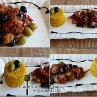 Lapin à la catalane et son risotto au safran