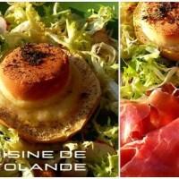 Toasts de pommes au Rocamadour