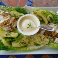 Filet de cabillaud et pommes de terre à la cancoillotte.