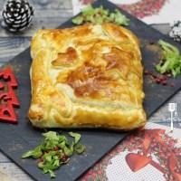 Chausson de Noël saumon épinards au 4 épices .